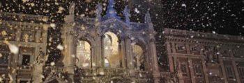 Roma nevicata Santa Maria Maggiore - fotografo: benvegnù - Guaitoli - lannutti